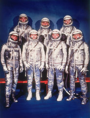 The 'Mercury Seven' astronauts  1959.