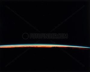 Sunset on Earth  viewed from the Space Shuttle  1980s.