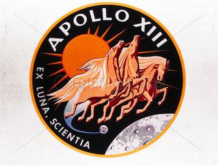 Official Apollo 13 mission emblem  1970.