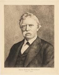 David Edward Hughes  English electrician and inventor  c 1880s.