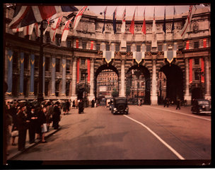 Admiralty Arch  London  1945.