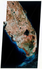 Landsat image of South Florida  1980s.