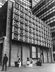 Digital clock  Manhattan  New York  22 June 1980.