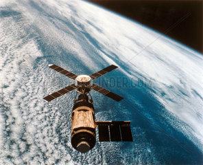 The Skylab space station in orbit  1974.