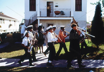 Fairview Baptist Church Marching Band  New Orleans  USA  1971.