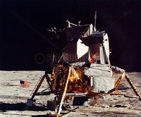 Apollo 14 lunar module on the Moon  February 1971.