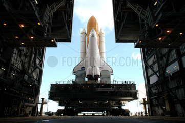 Space Shuttle Discovery preparing for launch  July 2005.
