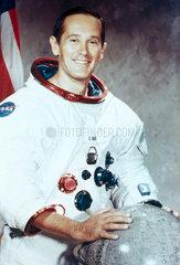 Apollo 16 astronaut Charles Duke in spacesuit  1971.