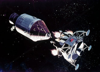 Separation of Apollo Lunar Module from Command and Service Module  1969