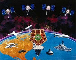 American FLTSATCOM satellite system  1981.