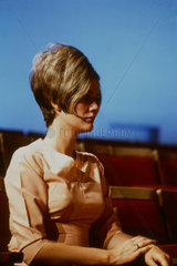 Woman with a beehive hairstyle  United States  1971.