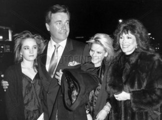 Robert Wagner and family  December 1986.