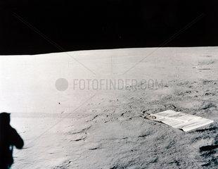 Solar wind experiment on the Moon  1969-1972.