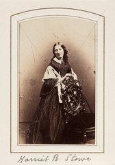 'Harriet B. Stowe'  c 1865.