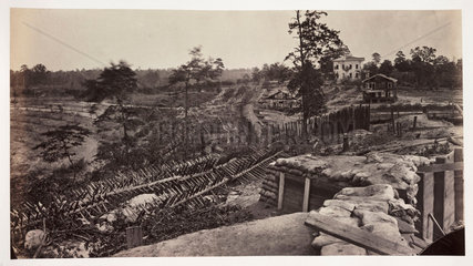 'Confederate defensive works around Atlanta'  Georgia  USA  c 1865.