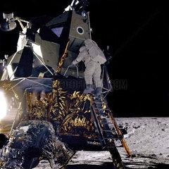 Apollo 12 lands on the Moon  19 November 1969.