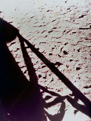 Shadow of the Lunar Module on the Moon  1971-1972.