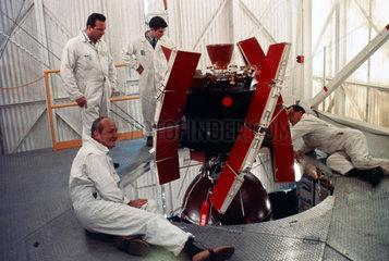 The Radio Astronomy Explorer (RAE-A) satellite  1968.