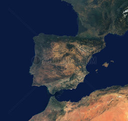 The Iberian peninsula from space  c 2000-2002.