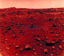 View of the Martian surface taken by Viking 1  1976.