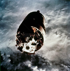 The Apollo 9 Lunar Module attached to its Saturn V launch vehicle  1969.
