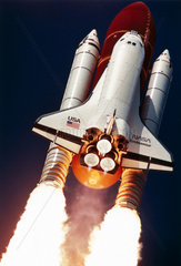 Lift-off of Space Shuttle Endeavour  12th September 1992.