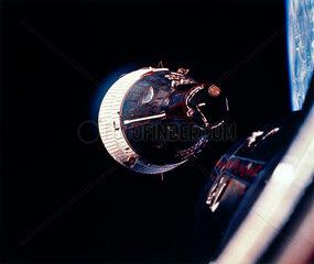 Gemini 7 spacecraft in Earth orbit  1965.