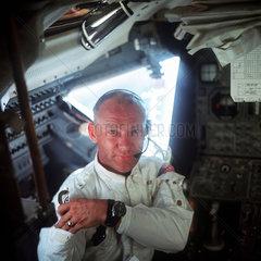 Buzz Aldrin in the 'Eagle'  1969.