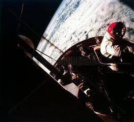 Apollo 9 Astronaut David Scott in space  1969.