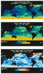 Three Seasat maps  1978.