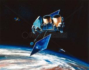 Gamma Ray Observatory (GRO) in orbit  1991.