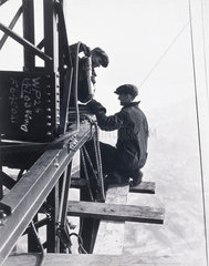 'Riveting Gang  Empire State Building'  c 1933.