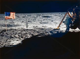 Apollo 11 astronaut Neil Armstrong on the Moon  1969.