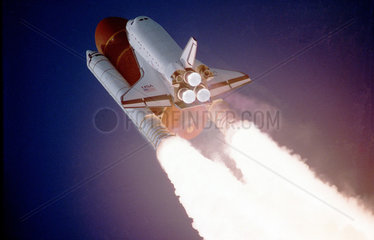 Space Shuttle Atlantis lifting off  2 December 1988.
