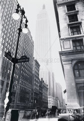'Empire State Building from Madison Avenue'  New York  1932.
