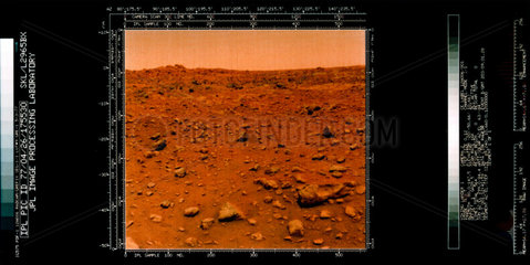 View of the Martian surface from Viking 1  1976.