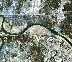 Tornado track across Indiana and Kentucky  USA  10 November 2005.