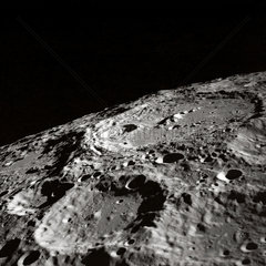 'Terraced wall crater on the lunar limb'  1 May 1969