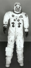 Space suit worn by William Anders on the Apollo 8 mission  1968.
