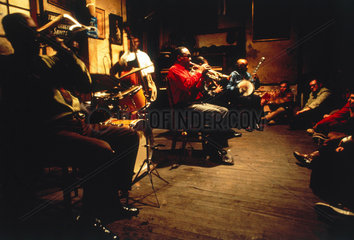 Kid Sheik and his band  Preservation Hall  New Orleans  USA  1971.