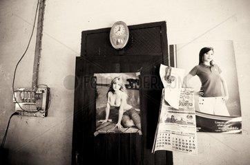 Poster von Britney Spears beim Zwischenstopp auf dem Weg von Luang Prabang