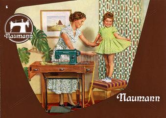 Naehmaschinen Naumann  Werbung  DDR  1956