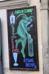 Absinthshop mit ritual drinks