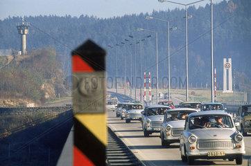 Oeffnung der DDR-Grenzen