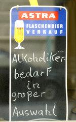Werbung fuer Trinker