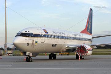gepfaendetes thailaendisches Flugzeug  Flughafen Muenchen