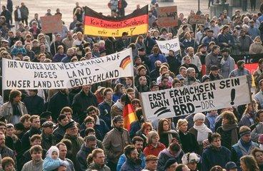 Demonstration fuer die Wiedervereinigung