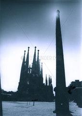 Spanien - Barcelona - Silhouette der Sagrada Familia