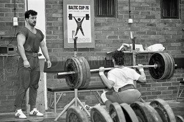 Gewichtheber-Nationalkader der DDR
