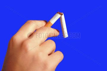 abgebrochene Zigarette